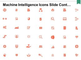 Machine Intelligence Icons Slide Cont Business Ppt Powerpoint Presentation Portfolio Influencers