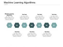 Machine Learning Algorithms Ppt Powerpoint Presentation Styles Icons Cpb