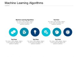 Machine Learning Algorithms Ppt Powerpoint Presentation Visual Aids Summary Cpb