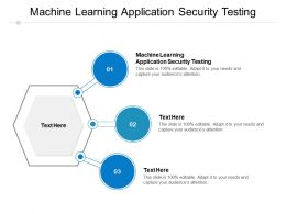 Machine Learning Application Security Testing Ppt Powerpoint Presentation Slides Templates Cpb