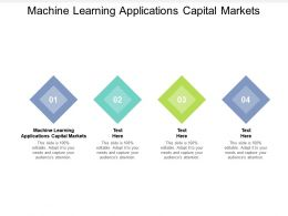 Machine Learning Applications Capital Markets Ppt Powerpoint Presentation Professional Cpb