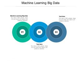 Machine Learning Big Data Ppt Powerpoint Presentation Ideas Tips Cpb