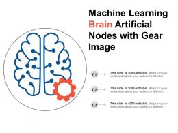 Machine Learning Brain Artificial Nodes With Gear Image
