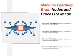 Machine Learning Brain Nodes And Processor Image