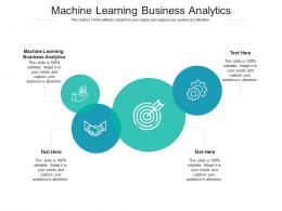 Machine Learning Business Analytics Ppt Powerpoint Presentation Infographics Introduction Cpb
