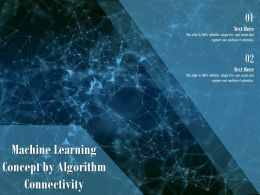 Machine Learning Concept By Algorithm Connectivity