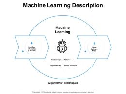 Machine Learning Description Data Information Ppt Powerpoint Presentation Deck