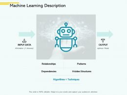 Machine Learning Description Input Data Ppt Powerpoint Presentation File Format
