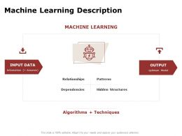 Machine Learning Description Ppt Powerpoint Presentation Ideas Aids