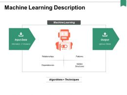 Machine Learning Description Ppt Powerpoint Presentation Professional Example