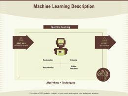 Machine Learning Description Structures Ppt Powerpoint Presentation Slide