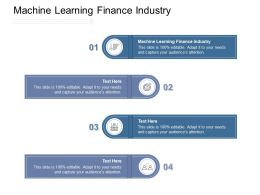 Machine Learning Finance Industry Ppt Powerpoint Presentation Show Portfolio Cpb