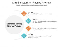 Machine Learning Finance Projects Ppt Powerpoint Presentation Model Icons Cpb