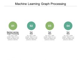 Machine Learning Graph Processing Ppt Powerpoint Presentation Infographics Visual Aids Cpb