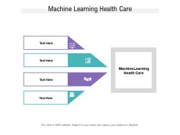 Machine Learning Health Care Ppt Powerpoint Presentation Portfolio Topics Cpb