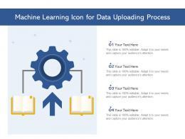 Machine Learning Icon For Data Uploading Process