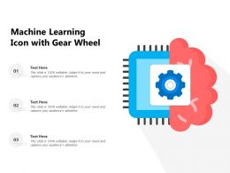 Machine Learning Icon With Gear Wheel