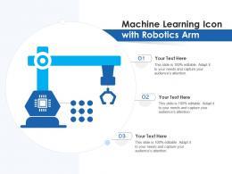 Machine Learning Icon With Robotics Arm