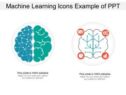 Machine Learning Icons Example Of Ppt