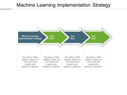 Machine Learning Implementation Strategy Ppt Powerpoint Presentation Summary Icons Cpb
