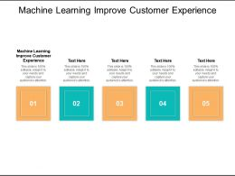 Machine Learning Improve Customer Experience Ppt Powerpoint Presentation Slides Graphics Design Cpb