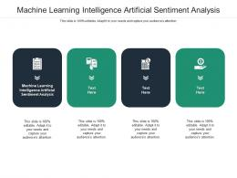 Machine Learning Intelligence Artificial Sentiment Analysis Ppt Powerpoint Presentation Cpb