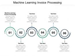 Machine Learning Invoice Processing Ppt Powerpoint Presentation Summary Outfit Cpb