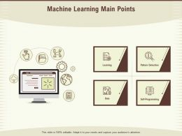 Machine Learning Main Points Detection Ppt Powerpoint Presentation Background