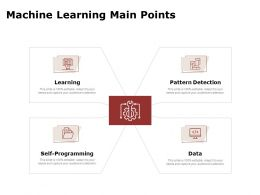 Machine Learning Main Points Self Ppt Powerpoint Presentation Portfolio
