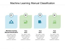 Machine Learning Manual Classification Ppt Powerpoint Presentation Ideas Information Cpb