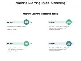 Machine Learning Model Monitoring Ppt Powerpoint Presentation Styles Icon Cpb