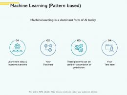 Machine Learning Pattern Based Ppt Powerpoint Presentation File Guidelines