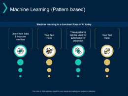 Machine Learning Pattern Based Prediction Improve Ppt Powerpoint Presentation Layouts Files