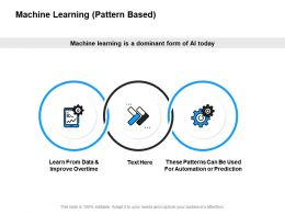 Machine Learning Pattern Based Process Ppt Powerpoint Presentation Slides