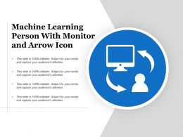 Machine Learning Person With Monitor And Arrow Icon