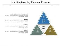 Machine Learning Personal Finance Ppt Powerpoint Presentation Infographics Files Cpb