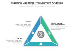 Machine Learning Procurement Analytics Ppt Powerpoint Presentation Infographics Cpb
