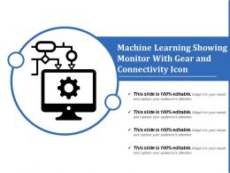 Machine Learning Showing Monitor With Gear And Connectivity Icon