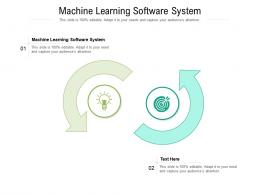 Machine Learning Software System Ppt Powerpoint Presentation Slides Inspiration Cpb