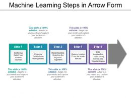 Machine Learning Steps In Arrow Form
