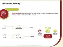 Machine Learning Traditional M599 Ppt Powerpoint Presentation Show Example