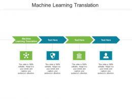 Machine Learning Translation Ppt Powerpoint Presentation Portrait Cpb