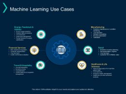 Machine Learning Use Cases Financial Services Manufacturing Ppt Powerpoint Presentation Layouts Examples