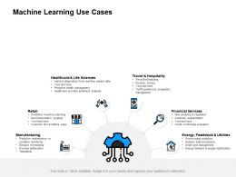 Machine Learning Use Cases Financial Services Ppt Powerpoint Presentation Slides