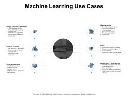 Machine Learning Use Cases Manufacturing Ppt Powerpoint Presentation Display
