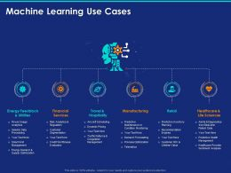 Machine Learning Use Cases Ppt Powerpoint Presentation Inspiration Picture