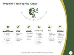 Machine Learning Use Cases Retail M573 Ppt Powerpoint Presentation File Vector