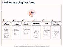 Machine Learning Use Cases Telematics Powerpoint Presentation Slide Download