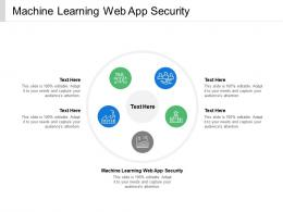Machine Learning Web App Security Ppt Powerpoint Presentation Slides Summary Cpb