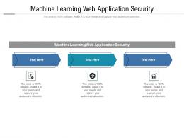 Machine Learning Web Application Security Ppt Powerpoint Presentation Gallery Rules Cpb